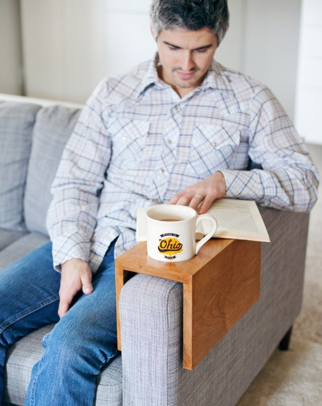 Christmas Gift Wooden Sofa Cup Holder