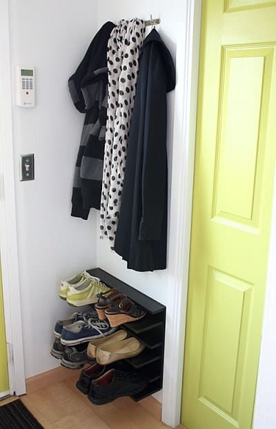 DIY Shoe Rack For Tight Space