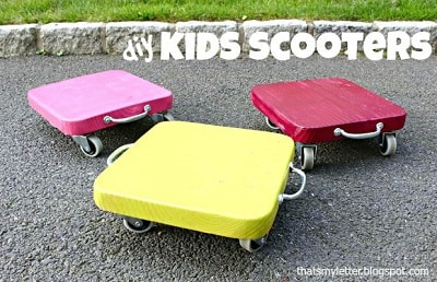 DIY Wooden Sit And Scoot