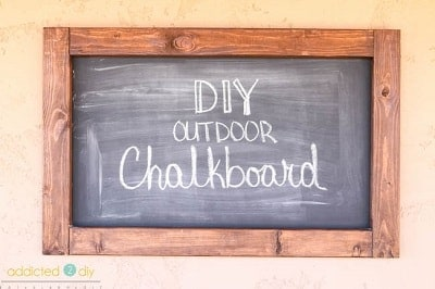 DIY Outdoor Chalkboard