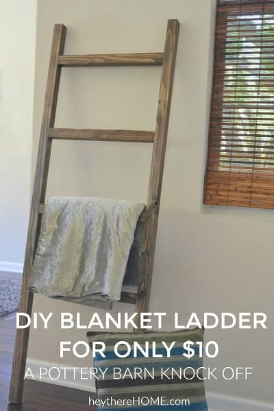 DIY Wodden Blanket Ladder