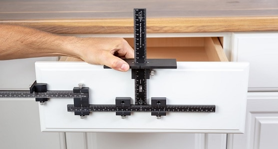 how to install cabinet hardware with jig