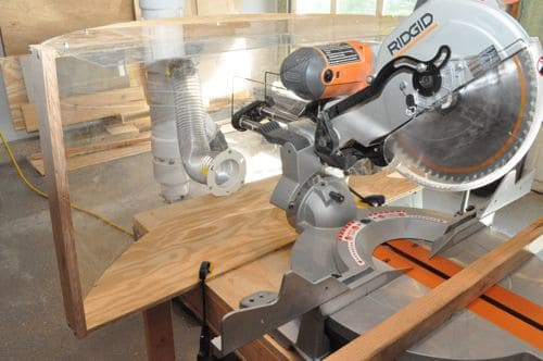 plexiglass compound miter saw dust collection oneproject