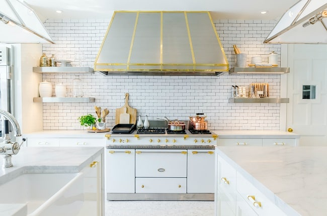 what color hardware goes best with white cabinets