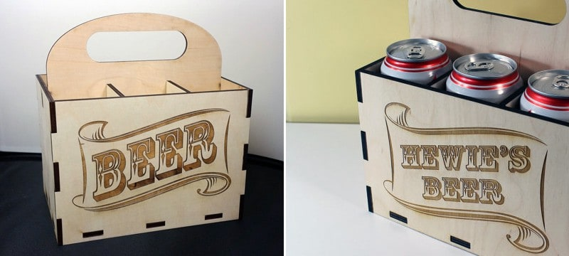 Laser cut wooden packaging