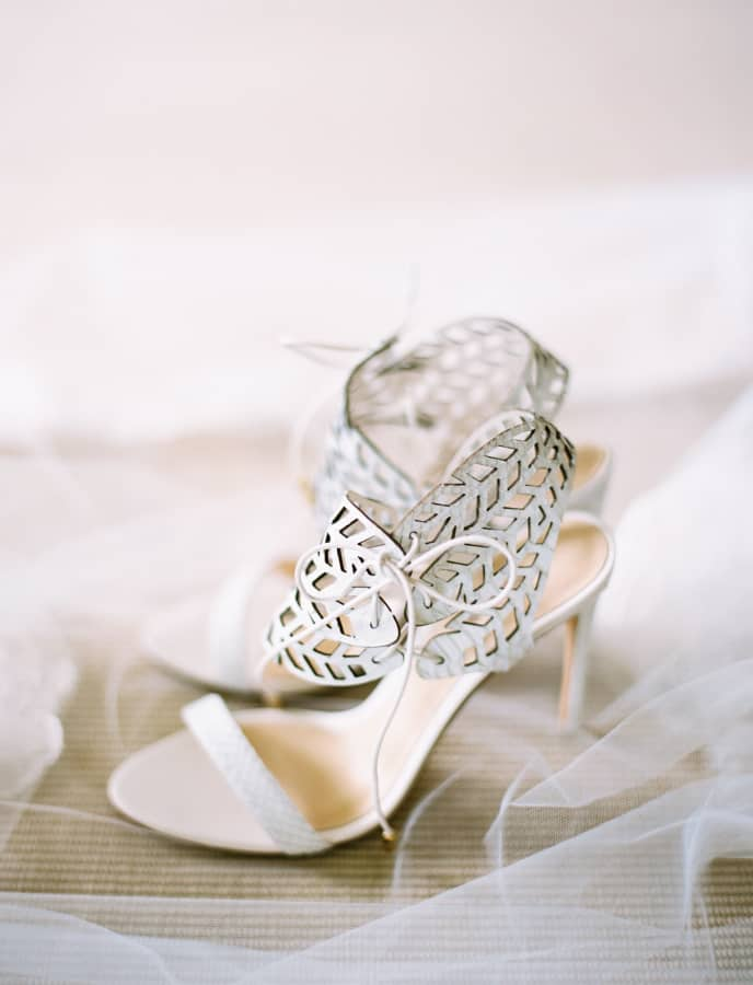 Laser cut Bridal shoes