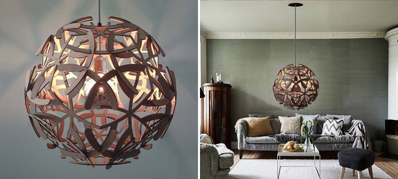Laser cut living room lamp