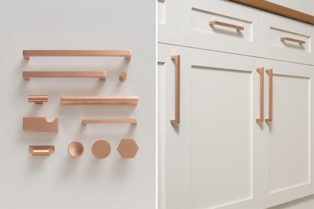 Copper-finish hardware