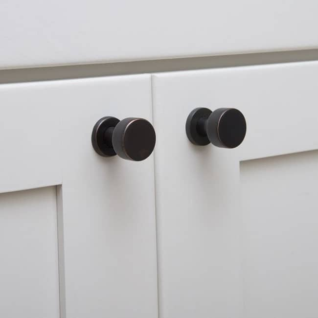 Distressed black knobs